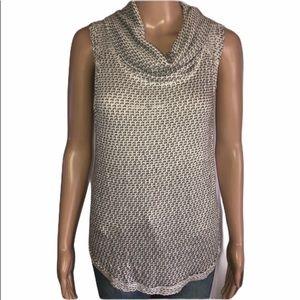 Free People ivory comb sleeveless sweater